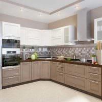 идея применения светлого дизайна кухни картинка
