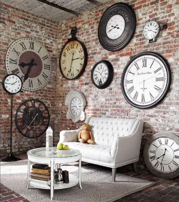 идея применения светлого дизайна комнаты в стиле ретро