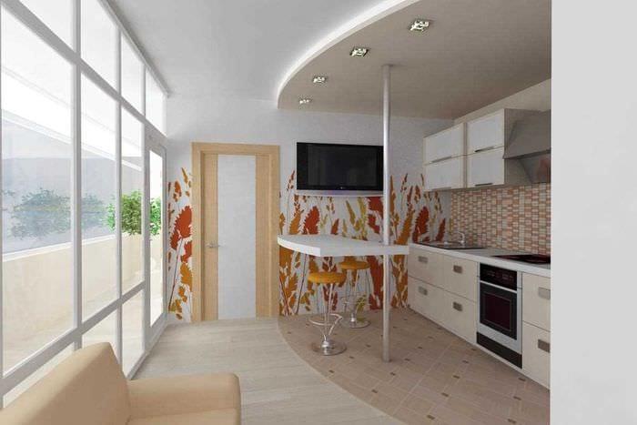 идея использования светлого ламината в красивом дизайне квартиры