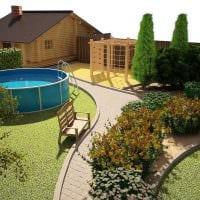 идея применения светлых растений в ландшафтном дизайне дома фото