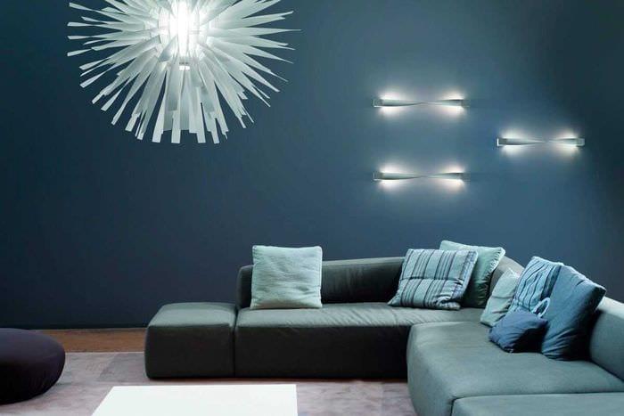 вариант применения светового дизайна в ярком стиле дома