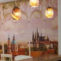 вариант использования светового дизайна в ярком декоре дома картинка
