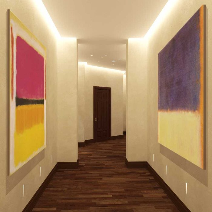 идея применения светового дизайна в необычном декоре дома