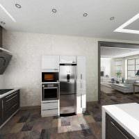идея использования светового дизайна в красивом интерьере квартиры фото
