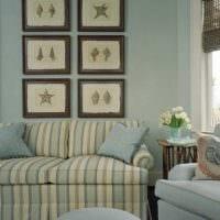 идея применения яркого голубого цвета в дизайне квартиры фото