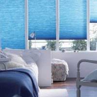 вариант использования яркого голубого цвета в стиле дома картинка