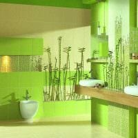 вариант использования зеленого цвета в ярком интерьере квартиры фото