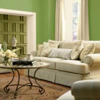 идея применения зеленого цвета в ярком декоре квартиры фото