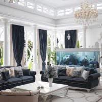 вариант красивого декора зала в частном доме картинка