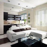 вариант светлого стиля квартиры студии картинка