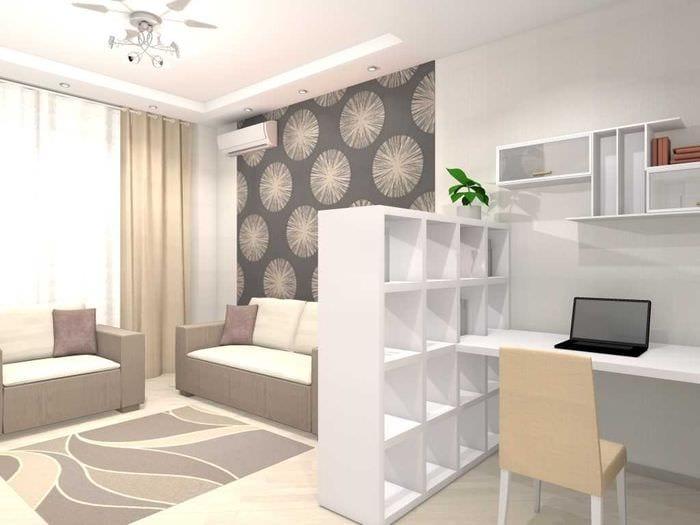вариант необычного дизайна двухкомнатной квартиры