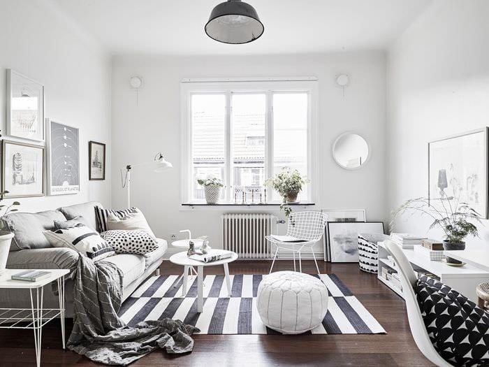 идея красивого декора квартиры в скандинавском стиле