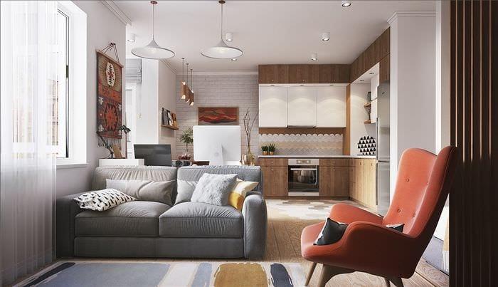 идея красивого интерьера малогабаритной комнаты