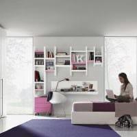 вариант светлого декора спальни для девочки в современном стиле фото