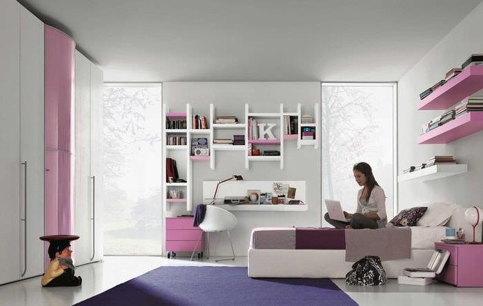 Дизайн современной комнаты молодой девушки фото