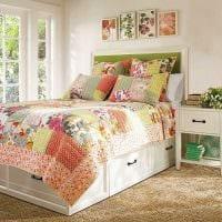идея яркого стиля спальни в стиле пэчворк картинка