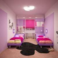 вариант красивого интерьера комнаты для девочки 12 кв.м картинка