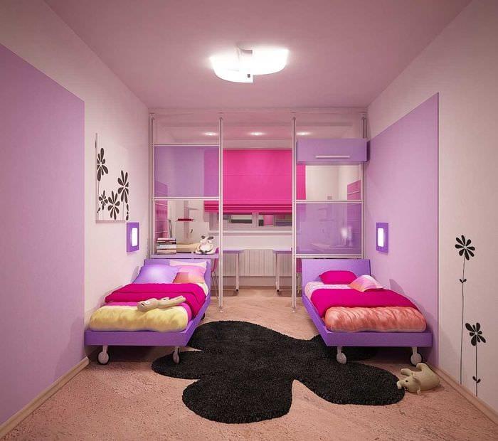 идея светлого декора детской комнаты для девочки 12 кв.м