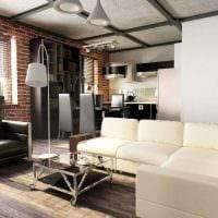 идея необычного стиля двухкомнатной квартиры в хрущевке фото
