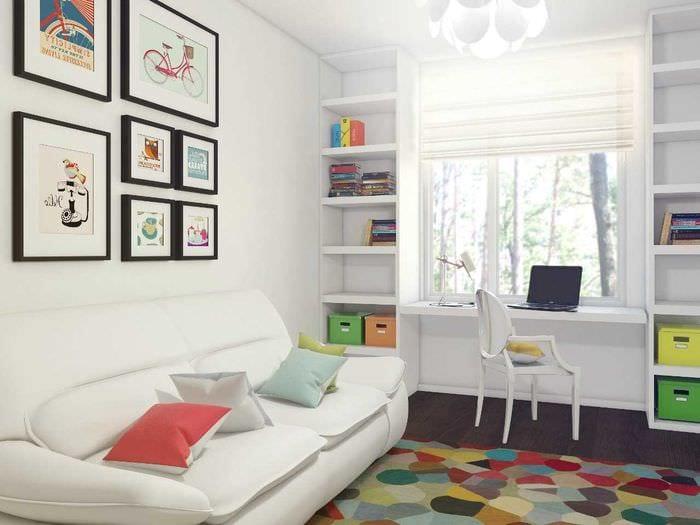 вариант красивого стиля комнаты для девочки 12 кв.м