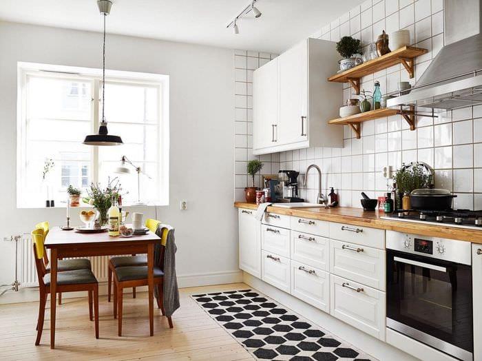 вариант яркого стиля комнаты в скандинавском стиле
