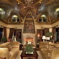 идея красивого дизайна дома в романском стиле фото