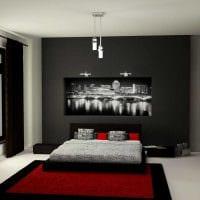 вариант необычного стиля спальни для молодого человека фото