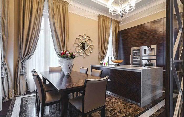 вариант светлого сочетания цвета в дизайне современной комнаты