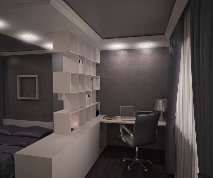 вариант красивого интерьера гостиной спальни 20 кв.м.