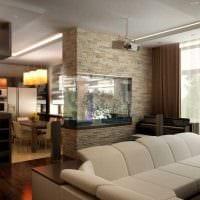 идея яркого дизайна гостиной спальни фото