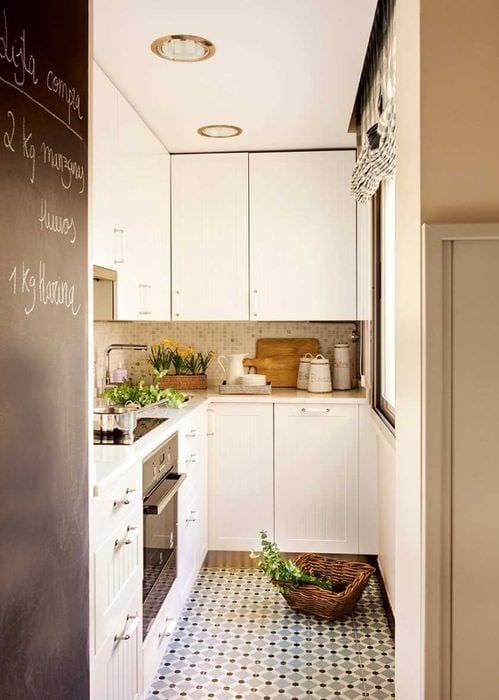 вариант светлого стиля кухни 9 кв.м
