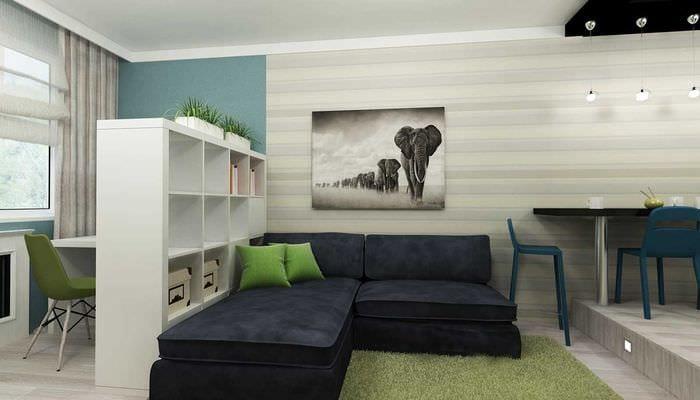 идея светлого стиля квартиры студии
