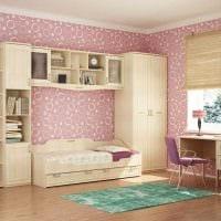 идея светлого интерьера маленькой комнаты в общежитии картинка