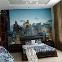 идея яркого дизайна спальни для молодого человека фото