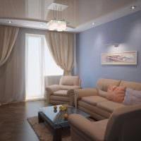 идея красивого интерьера спальни гостиной картинка