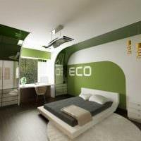 вариант светлого декора спальной комнаты для девочки в современном стиле картинка