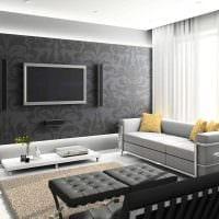 идея необычного стиля зала в частном доме картинка