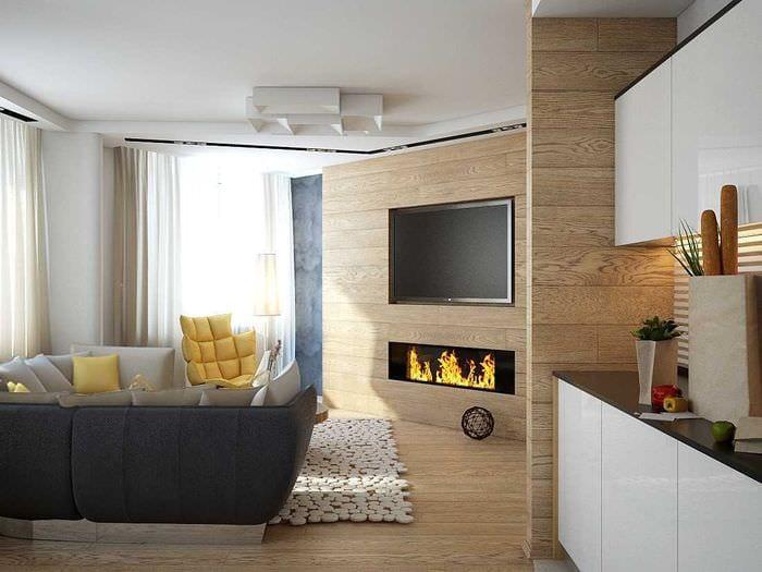 вариант необычного бежевого цвета в дизайне квартиры