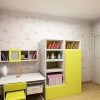 вариант яркого декора детской комнаты для девочки 12 кв.м картинка