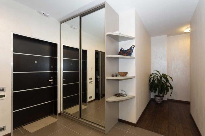 идея красивого стиля современной прихожей комнаты