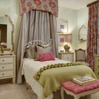 вариант светлого стиля спальной комнаты для девочки в современном стиле картинка