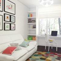 вариант красивого декора спальни для девочки в современном стиле фото