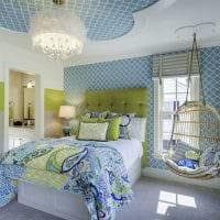 идея необычного дизайна спальной комнаты для девочки в современном стиле картинка