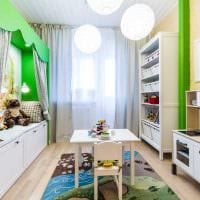 вариант яркого интерьера детской комнаты для девочки 12 кв.м картинка