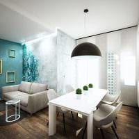 идея светлого интерьера столовой картинка