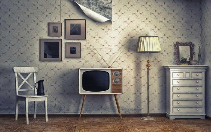 идея яркого дизайна квартиры в советском стиле