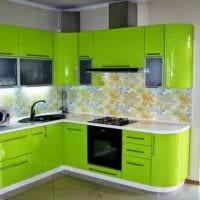 идея яркого дизайна кухни 9 кв.м картинка