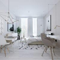 вариант необычного стиля квартиры в скандинавском стиле картинка