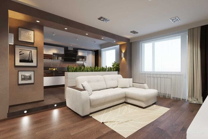 вариант светлого стиля квартиры