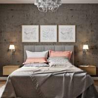 вариант светлого стиля спальной комнаты для молодого человека картинка